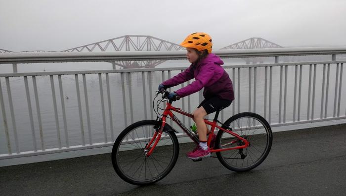 Emie riding bike