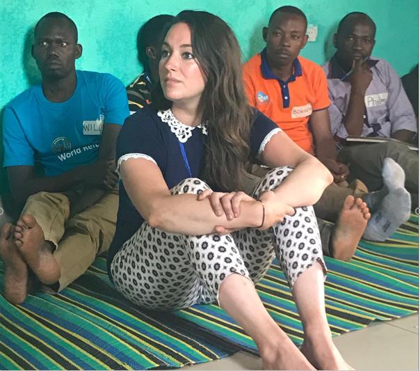 Georgia with fellow students, Rwanda 2017